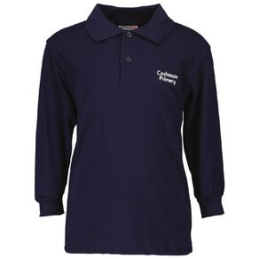 Schooltex Cashmere Primary School Long Sleeve Polo with Embroidery