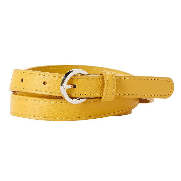 H&H Women's Skinny Belt, Yellow, hi-res