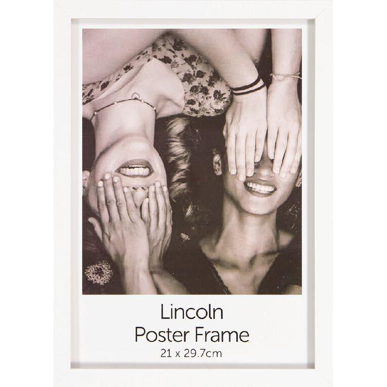 Uniti Box Poster Frame White A4, White, hi-res