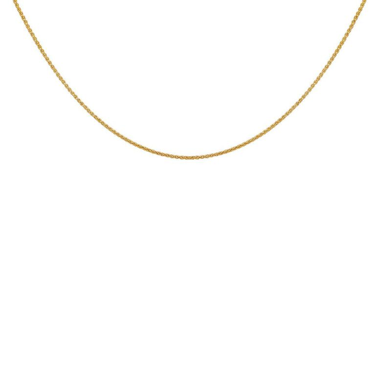 9ct Gold Wheat Chain 45cm, , hi-res