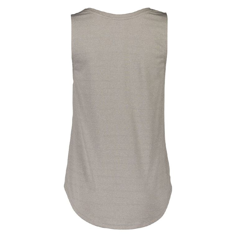 Active Intent Women's Printed Tank Top, Grey Marle, hi-res