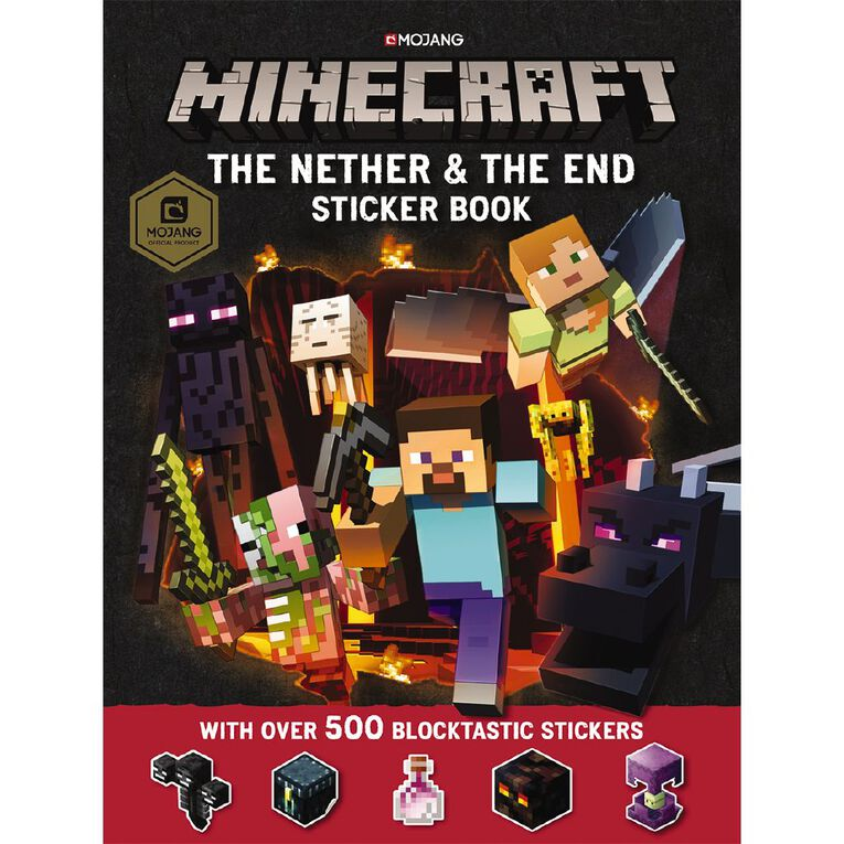 Minecraft The Nether & the End Sticker Book, , hi-res