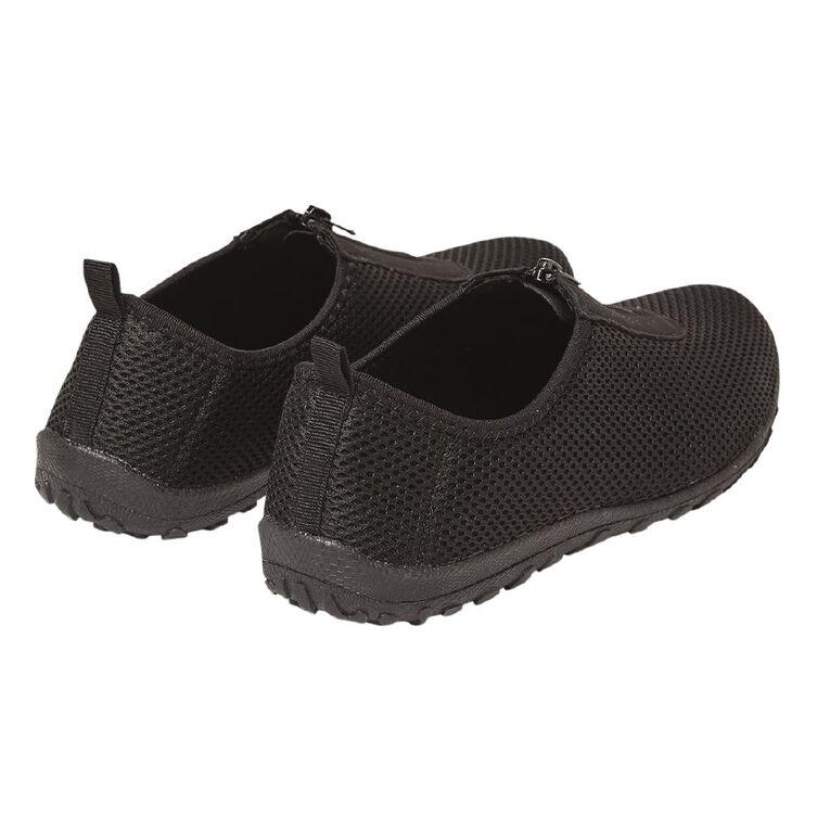 Active Intent Women's Zip Trainer Shoes, Black, hi-res