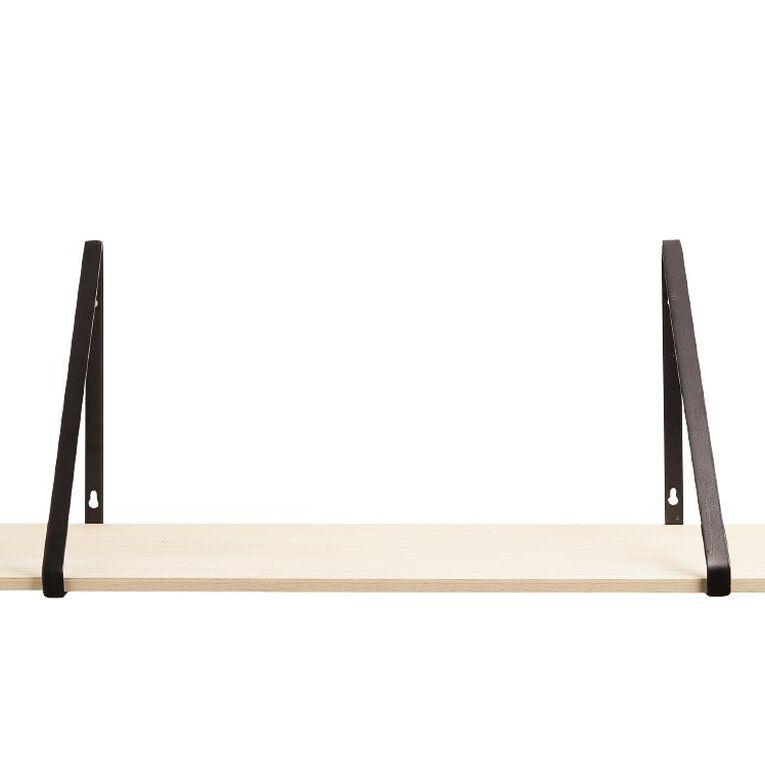 Living & Co MDF Shelf With Bracket Natural, , hi-res