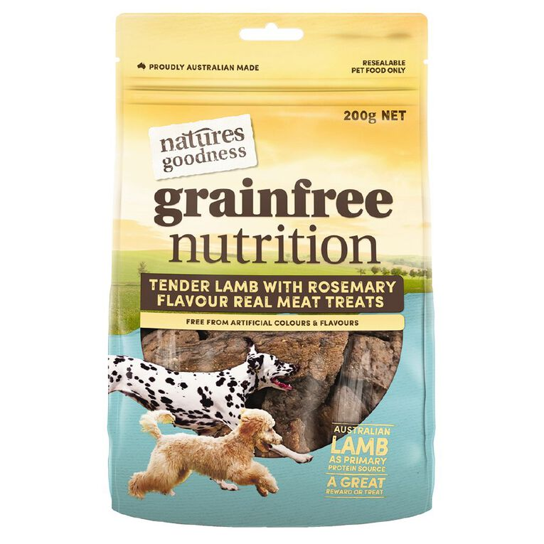 Natures Goodness Dog Treats Lamb/Rosemary 200g, , hi-res