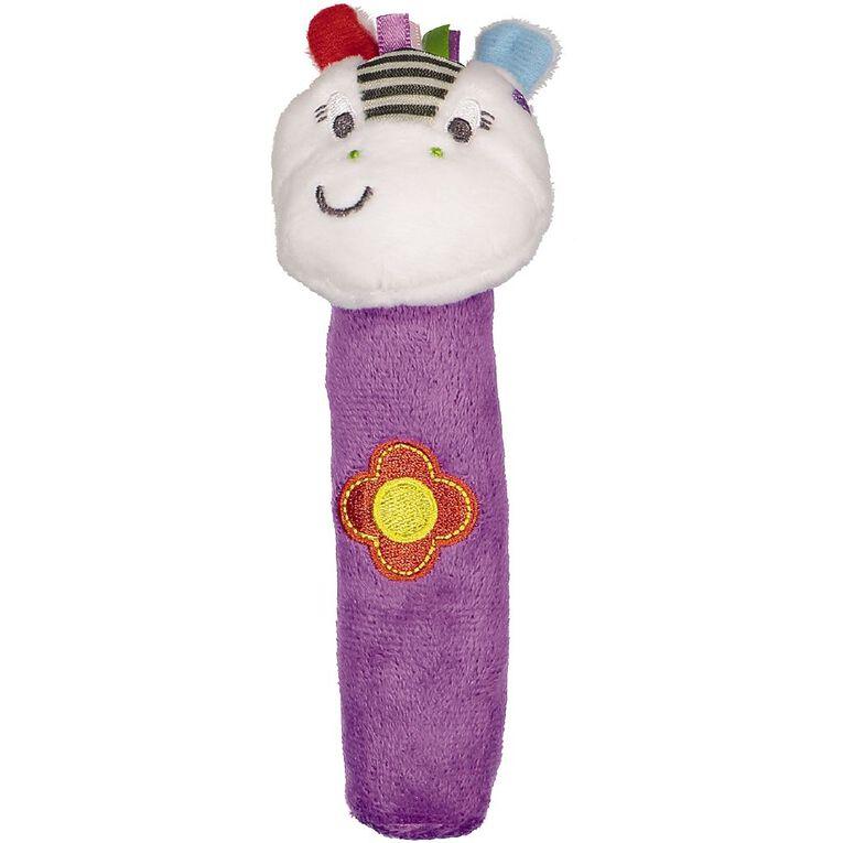 Little Pals Zippy Zebra Rattle Stick, , hi-res