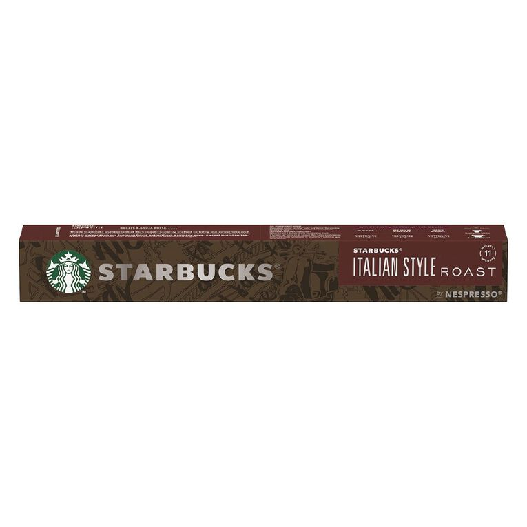 Starbucks Nespresso Coffee Capsule Italian Roast 10 Pack, , hi-res