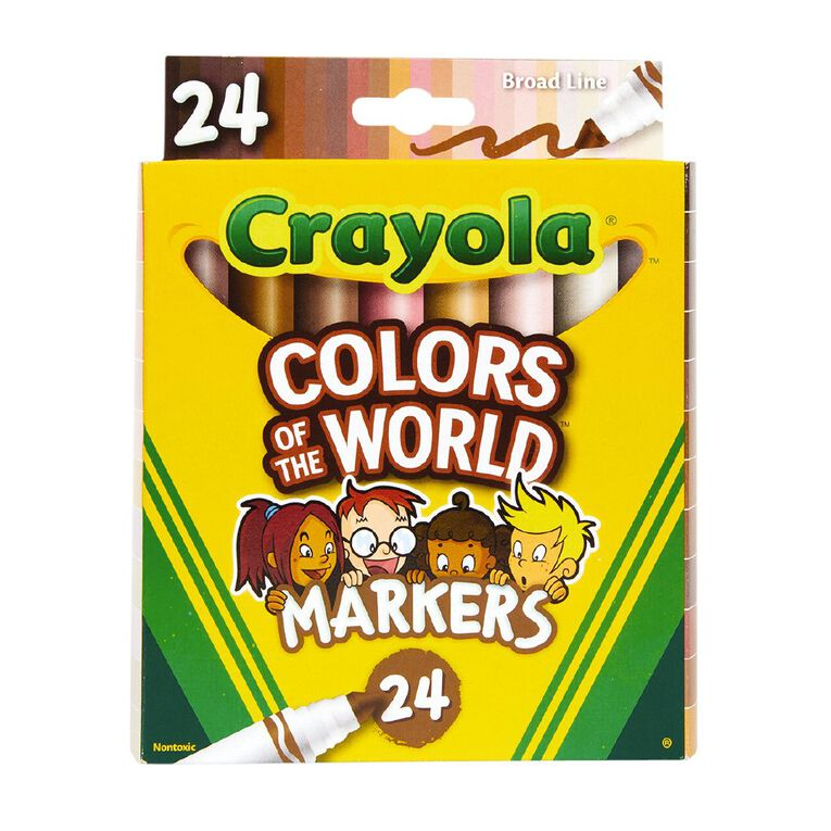 Crayola Colors of the World Markers 24 Pack, , hi-res