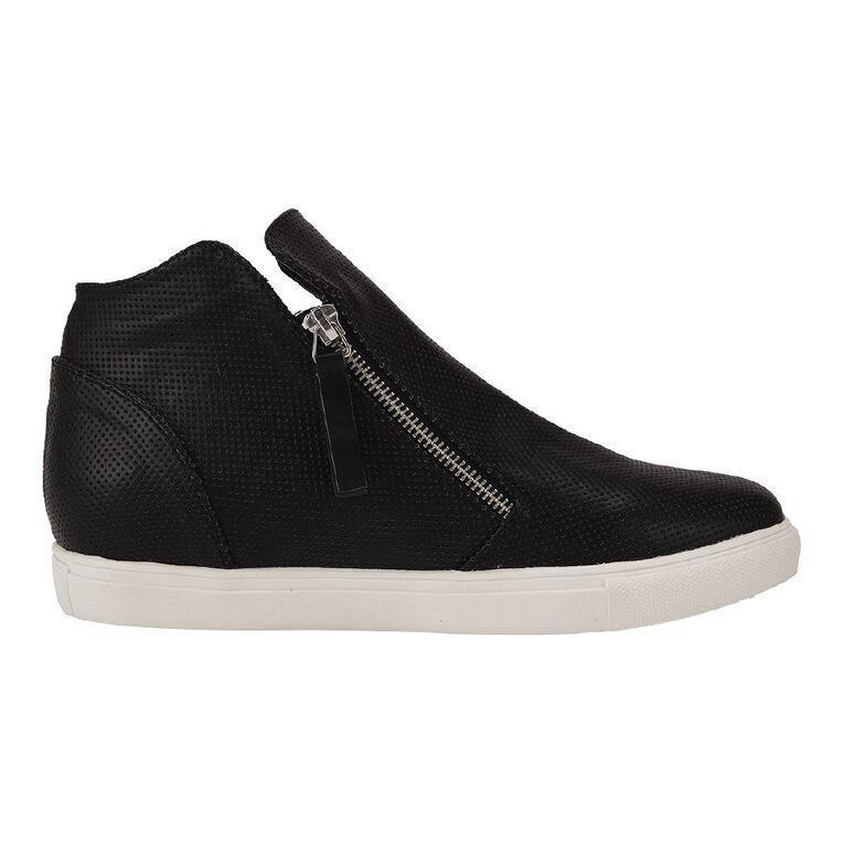 H&H Zippy Casual Shoes, Black, hi-res