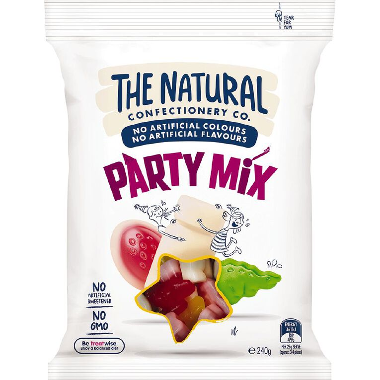 The Natural Confectionery Co. Party Mix 240g, , hi-res