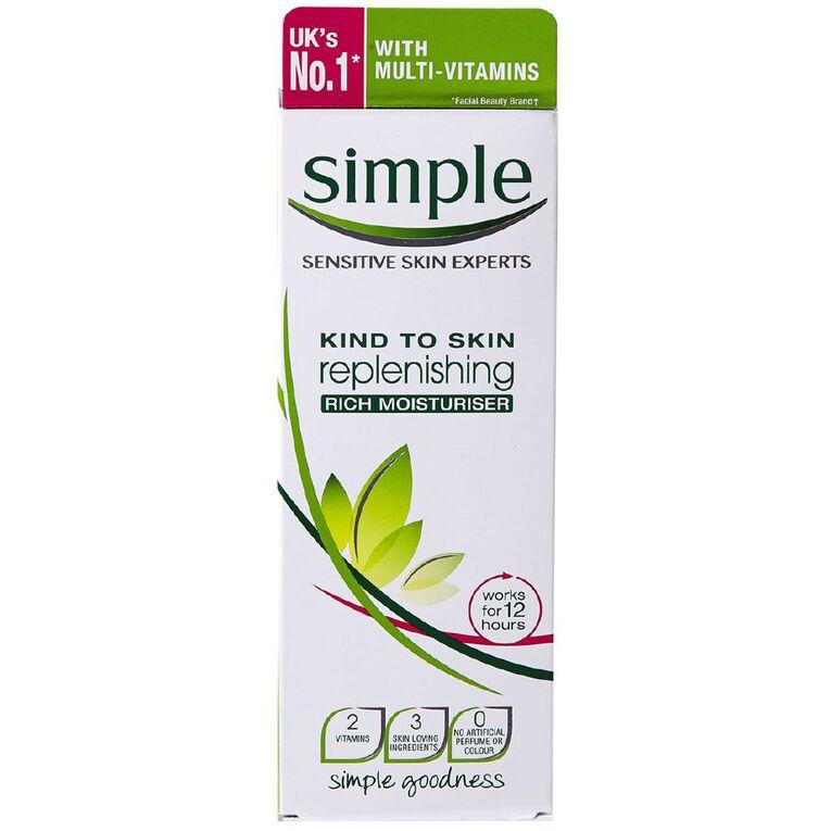 Simple Replenishing Rich Moisturiser 125ml, , hi-res