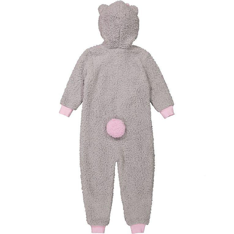 H&H Kids' Teddy Onesie, Grey, hi-res