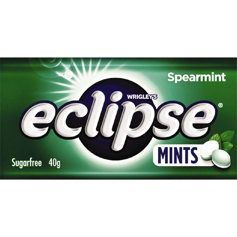 Eclipse Spearmint Mints Sugar Free Large Tin 40g 40g, , hi-res