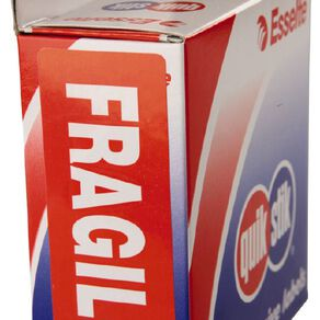 Quik Stik Labels Fragile Permanent 90 Pack Red
