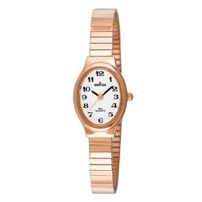 Switza Ladies Stainless Steel Gold Oval Watch