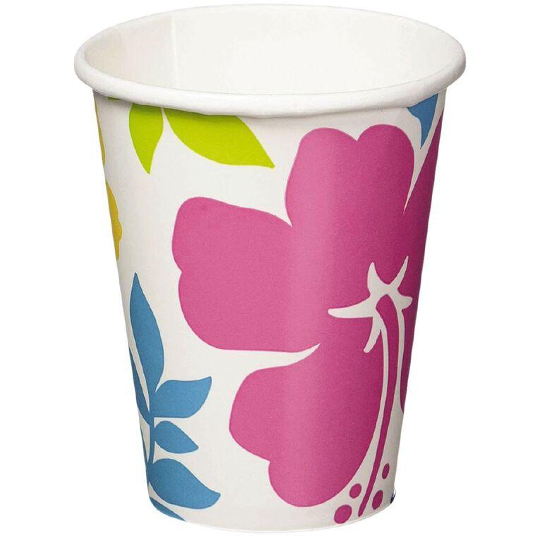 Amscan Summer Hibiscus Cups 266ml 8 Pack, , hi-res