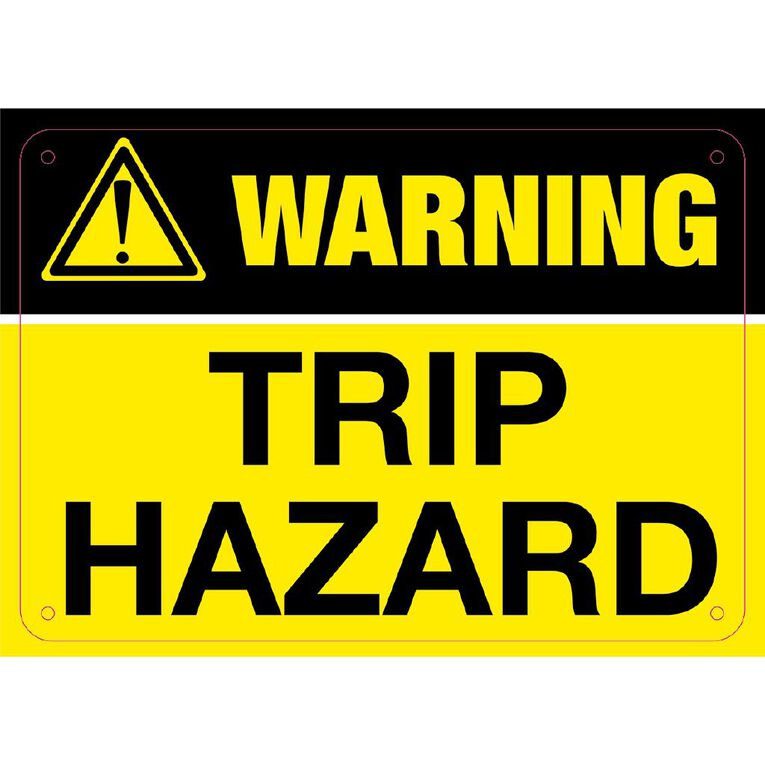WS Warning Trip Hazard Sign Small 240mm x 340mm, , hi-res