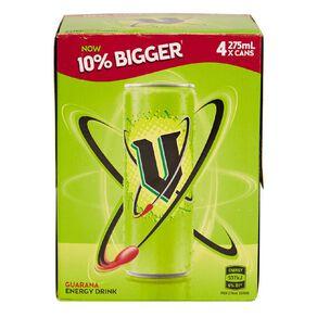 V Energy Drink Green 275ml 4 Pack