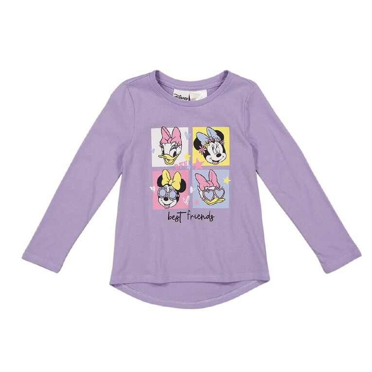 Minnie Mouse Disney Long Sleeve Print Tee, Purple, hi-res image number null