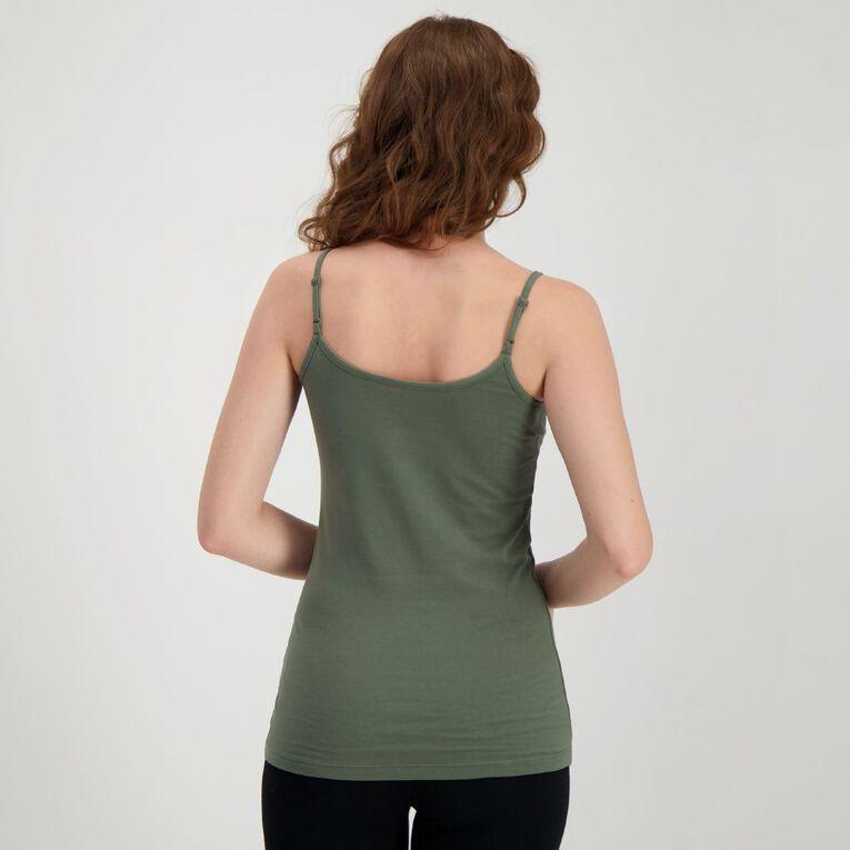H&H Women's Light Under Singlet, Khaki, hi-res