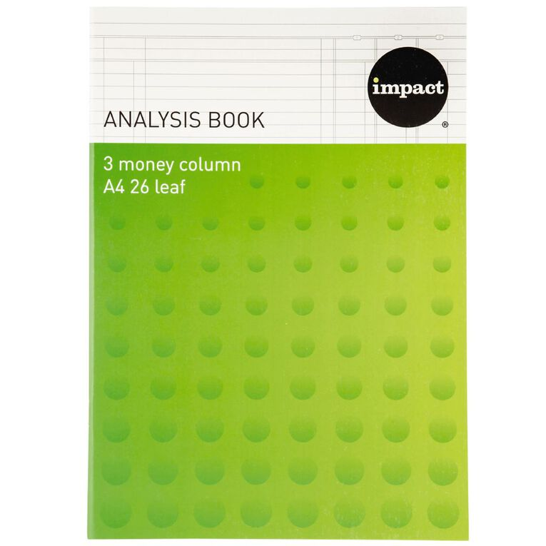 Impact Analysis Book 3 Column Green A4, , hi-res