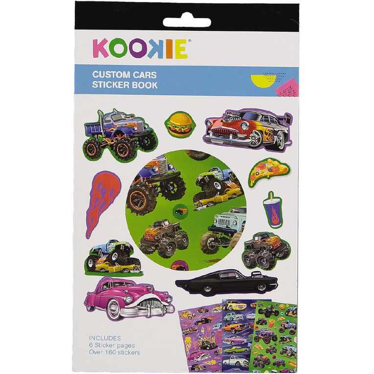 Kookie Sticker Book 6 Page Custom Cars, , hi-res