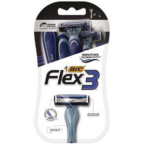 Bic Flex 3 Triple Disposable Razors 4 Pack