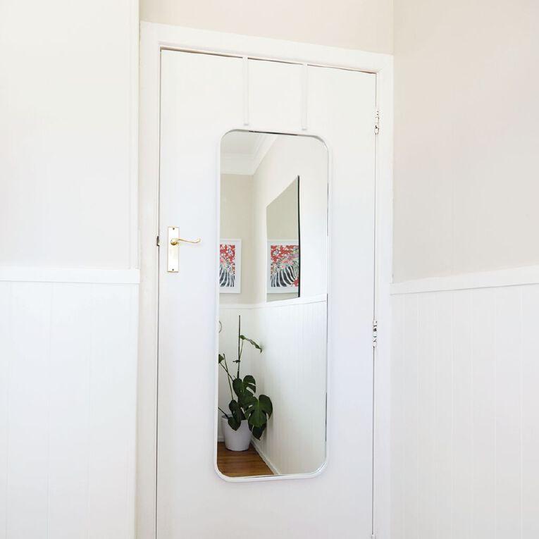 Living & Co Overdoor Versatile Mirror 40X120CM White, , hi-res