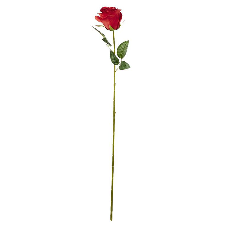 Living & Co Artificial Rose Stem 75cm Red, , hi-res