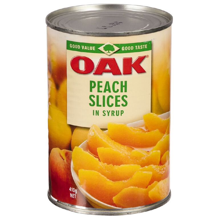 Oak Peaches Slices In Syrup 410g, , hi-res