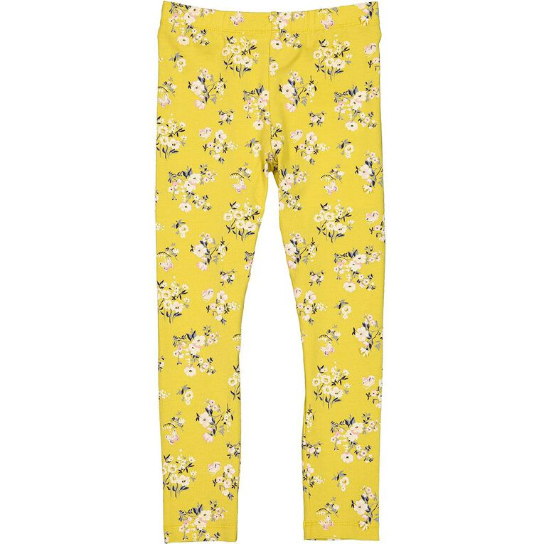 Young Original Lilly Leggings, Yellow Mid YEL FLORAL, hi-res