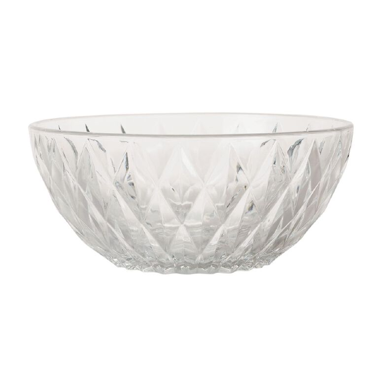 Living & Co Glass Salad Bowl 23cm, , hi-res