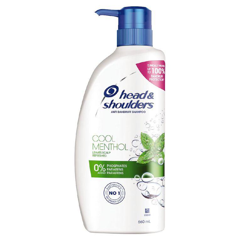 Head & Shoulders Cool Menthol Shampoo 660ml, , hi-res