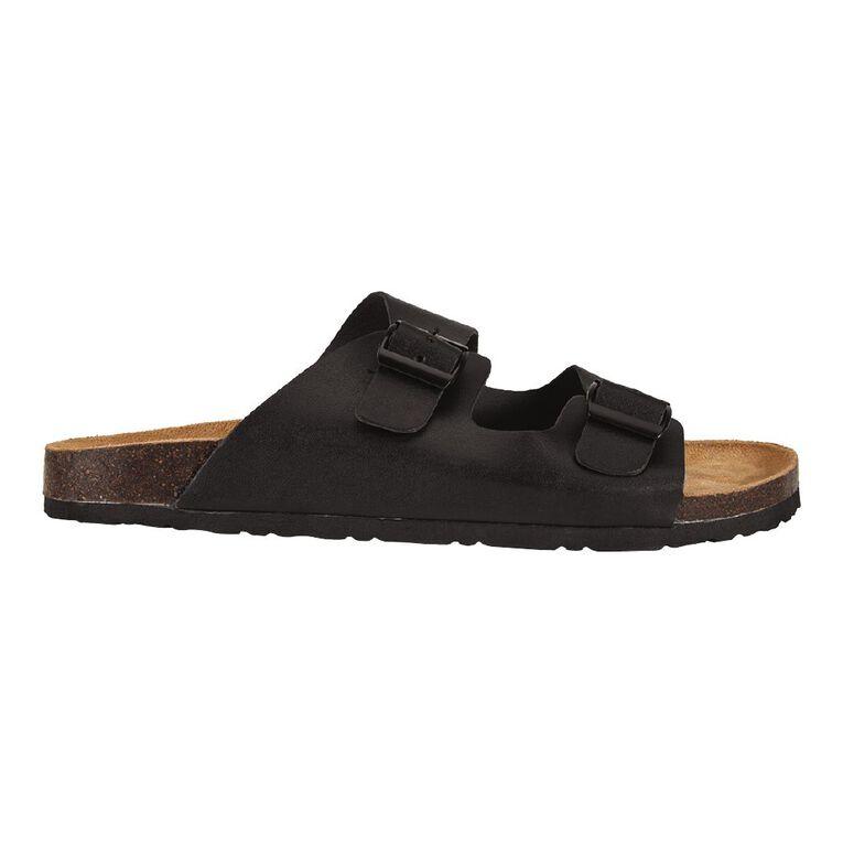 H&H Buckle Sandals, Black, hi-res