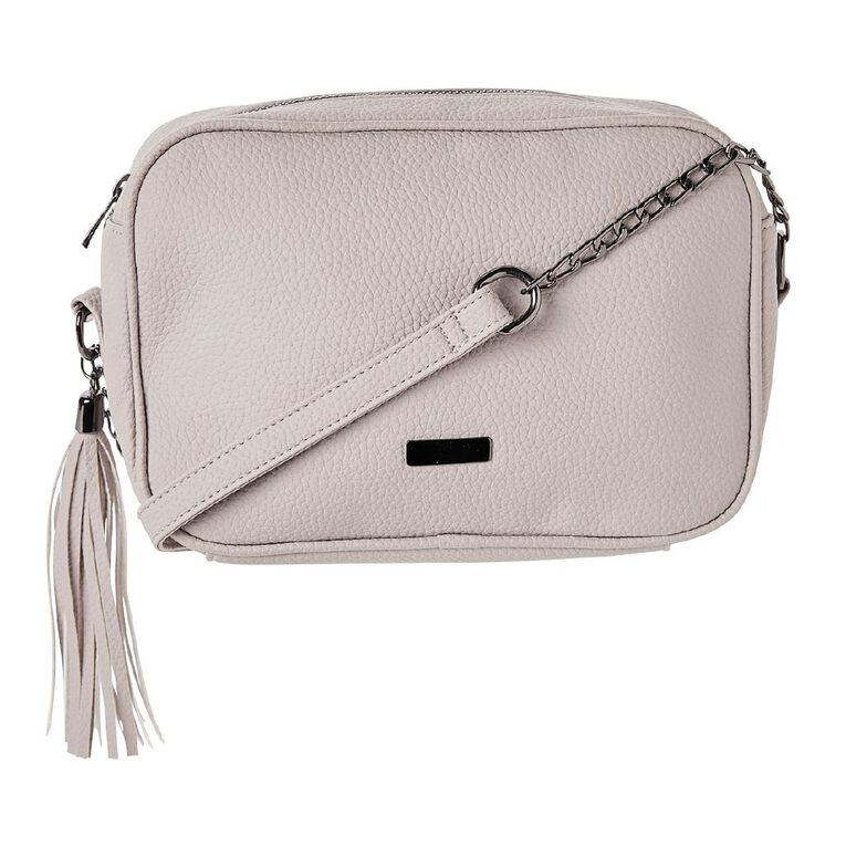 H&H Women's Crossbody Chain Handbag, Grey, hi-res