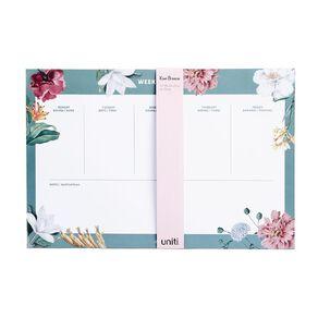 Uniti Kiwi Breeze Desk Planner Weekly List Green A4