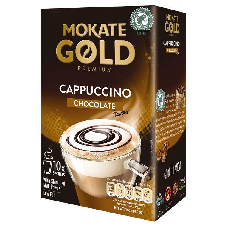 Mokate Gold Premium Cappuccino Chocolate 10 Sachets, , hi-res