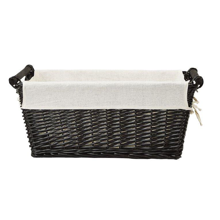 Living & Co Wicker Rectangle Basket Natural Large, , hi-res