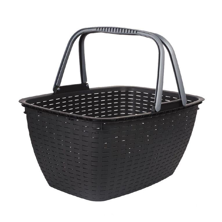 Living & Co Shopping Basket Black 21L, , hi-res
