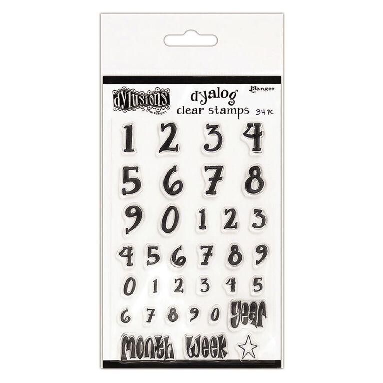 Ranger Dylusions Dyalog Clear Stamp Sets Numerology, , hi-res