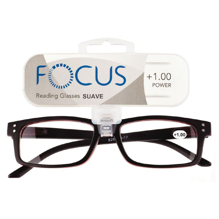 Focus Reading Glasses Men's Suave Power 1.00, , hi-res
