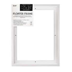Jasart Floater Frame Thick Edge 12x16 Inches White