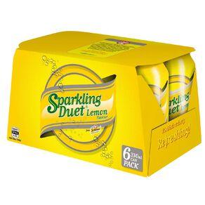 Schweppes Sparkling Lemon 330ml 6 Pack