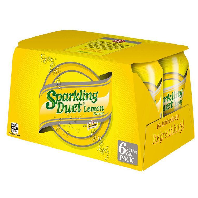 Schweppes Sparkling Lemon 330ml 6 Pack, , hi-res