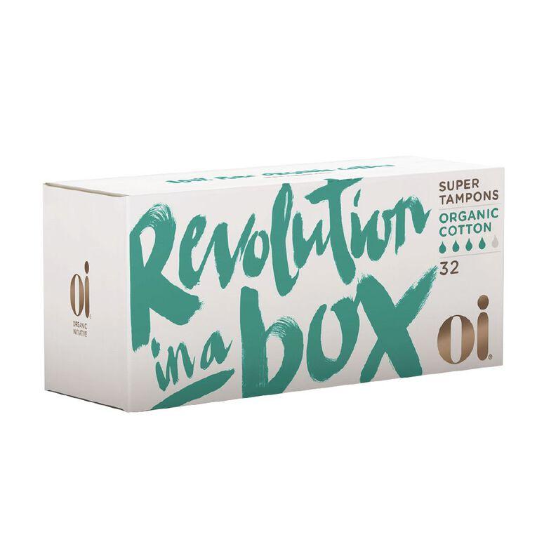 Oi Organic Cotton Tampon Super 32 pack, , hi-res
