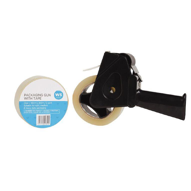 WS Packaging Tape Gun & 2 Tapes 48mm x 100m, , hi-res