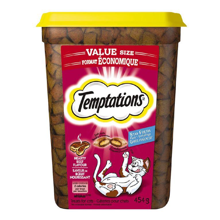 Temptations Cat Treats Hearty Beef 454g Tub, , hi-res