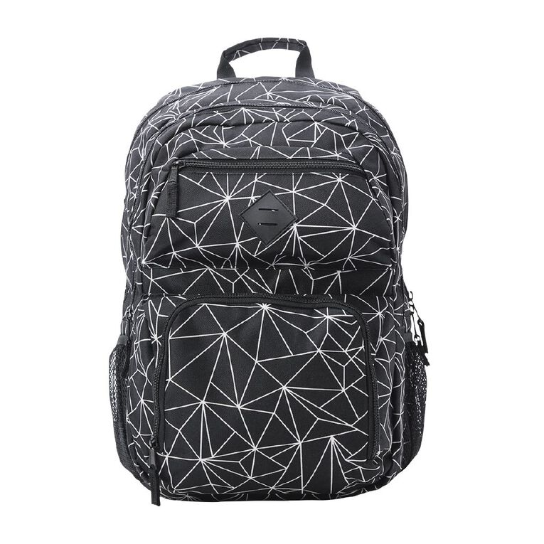 H&H Junior Tech Backpack, Black/White, hi-res