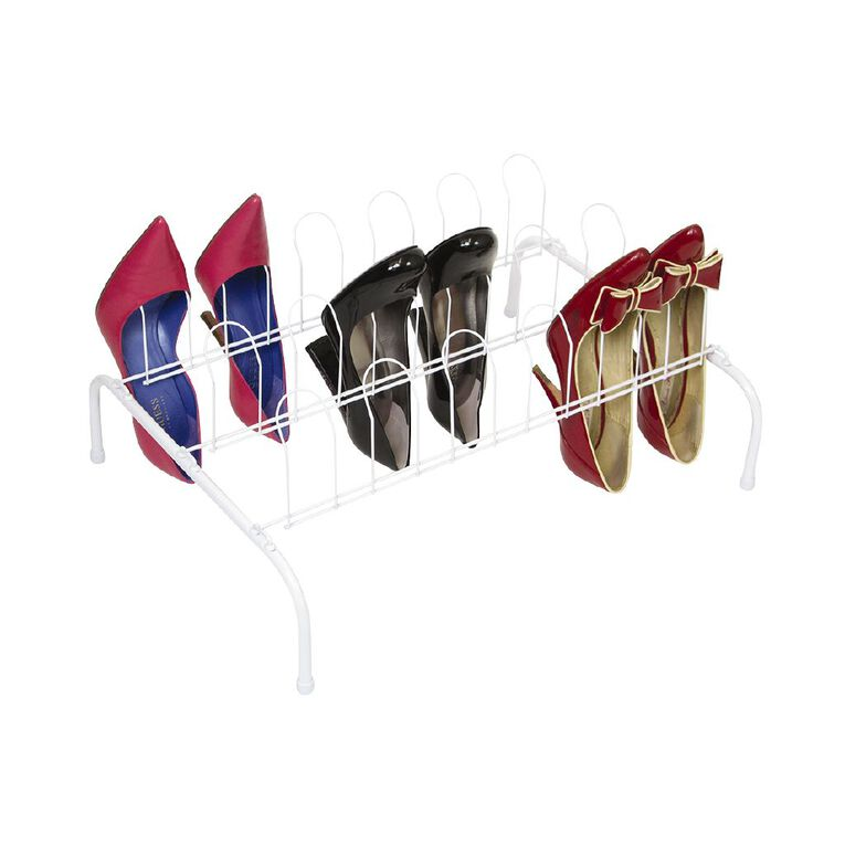 Floor Shoe Rack 9 White, , hi-res