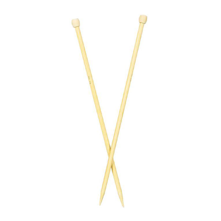 Uniti Knitting Needles Bamboo 8.0mm 35cm Brown 2 Pack, , hi-res